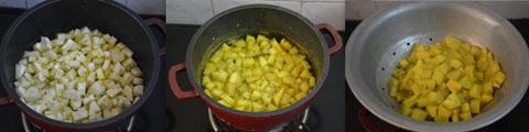 cooking raw banana