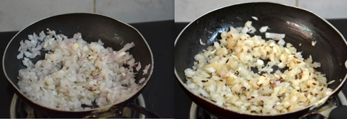 sauteing onions until light brown