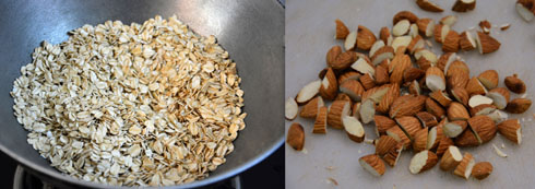 toasting oats and nuts