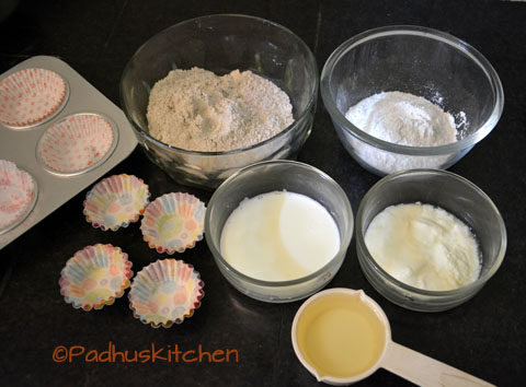 ingredients needed for ragi cupcake