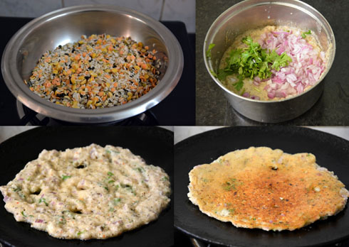 how to make Pancharatna Dal Adai