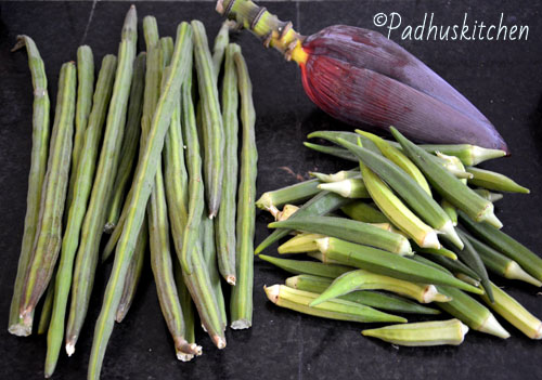 harvest from kitchen garden