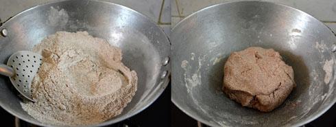roasting ragi flour