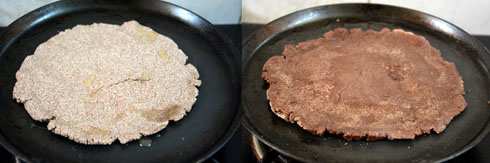 preparing ragi adai for simili