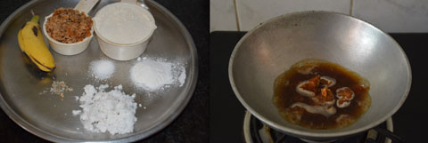 ingredients for making wheat appam