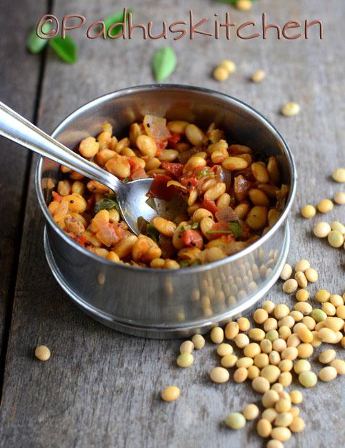 Soya Beans Dry Curry-Soya Beans Masala Sundal