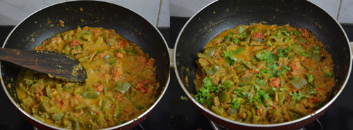 capsicum gravy for rice-chapati