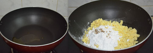 Chocolate Burfi with khoya