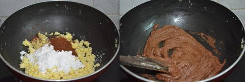 khoya chocolate burfi