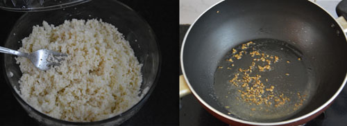 coconut flavored couscous with sweet corn