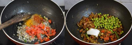 preparation of soya stuffing for chapati roll