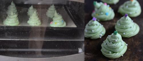 how to make Christmas Meringue Cookies