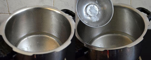 boiling water for ragi kali
