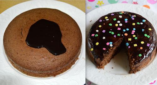 Eggless Whole Wheat Oats chocolate cake