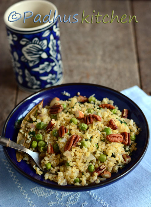 Bulgur with Peas and Mint