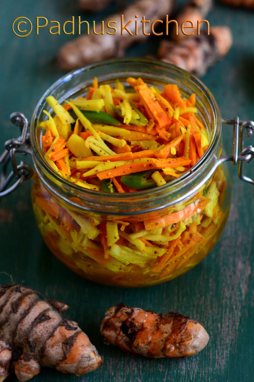 Fresh Turmeric Pickle-Kachi Haldi Ka Achaar