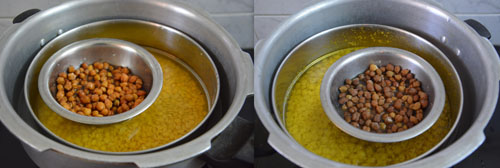 cooking dal and chick peas