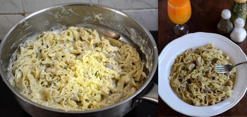 Creamy Mushroom Tagliatelle Pasta