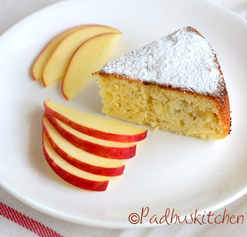 Apple cake in multicooker