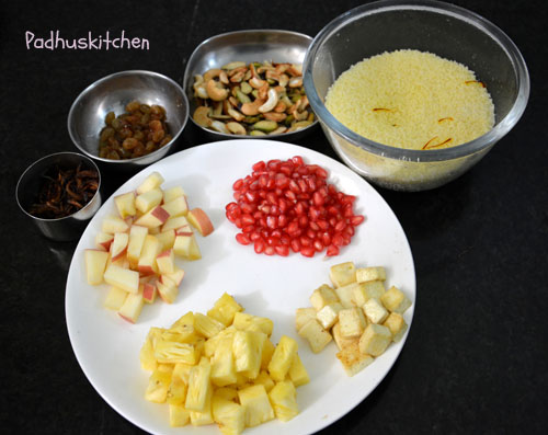 ingredients to make fruity couscous