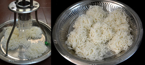 Homemade Rice Noodles-sevai recipe
