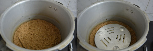 preparing cooker for making cookies