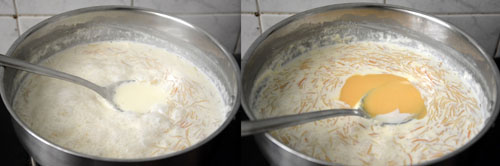 vermicelli kheer with condensed milk