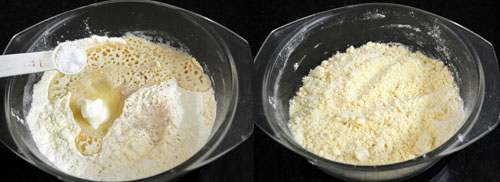 preparing the murukku maavu/murukku dough