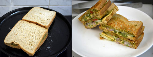 Basil Pesto Sandwich Recipe