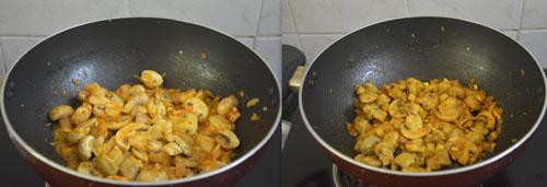 mushroom preparation for mushroom omelette