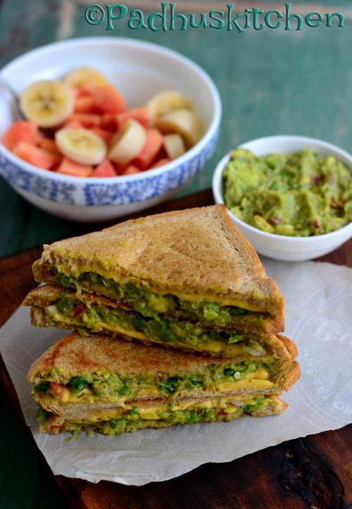 Avocado Sandwich-Vegetarian Avocado Sandwich