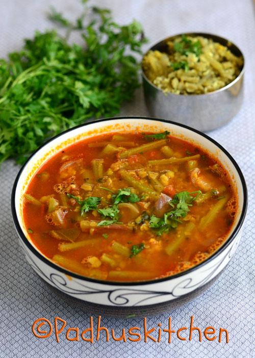 Keerai thandu sambar with instant sambar podi