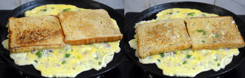 how to make bread omelet