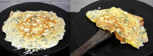 bread omelet street food