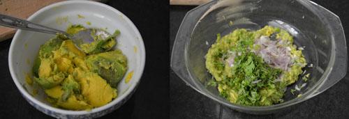 How to prepare avocado roti