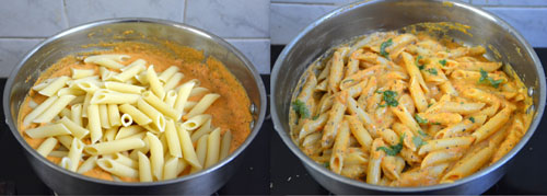 Roasted Bell Pepper Penne Pasta