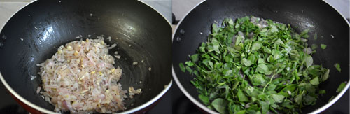 Fenugreek Leaves Stir Fry