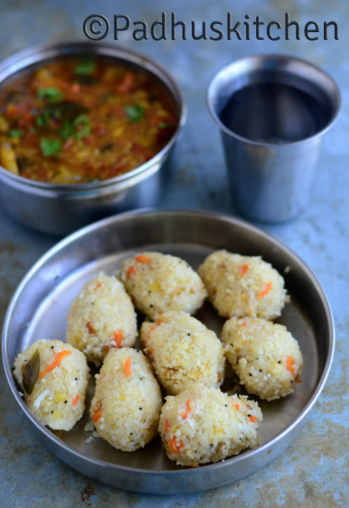 Broken Wheat Upma Pidi Kozhukattai Recipe