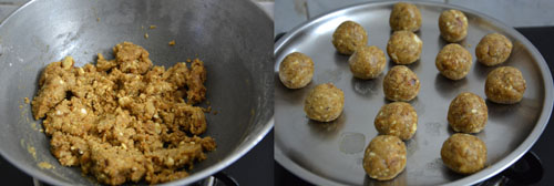 Atta Ladoo with Jaggery-Wheat Flour Laddu