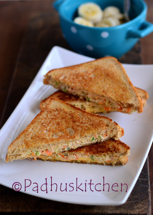 Curd Sandwich-Dahi Vegetable Sandwich