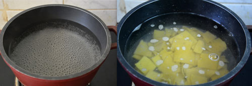 cooking dhokli