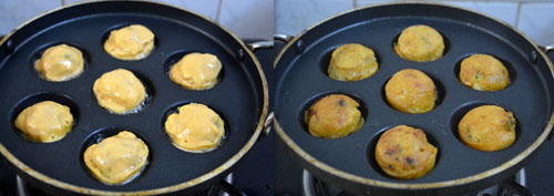 Low fat Aloo bonda-Bonda in Paniyaram/appe pan