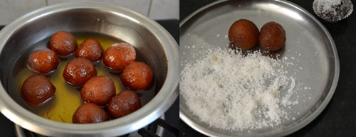 Dry gulab jamun with mtr mix