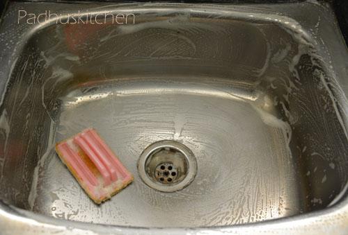 How To Clean Kitchen Sink How To Clean Stainless Steel Sink Padhuskitchen