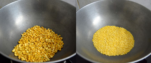 roasting dal for murukku