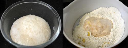 dough preparation for masala buns