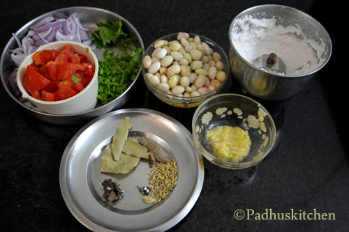 ingredients for butter beans kurma