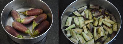 brinjals-chopped brinjals