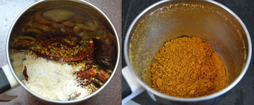 Vangi Bath Masala Podi Recipe