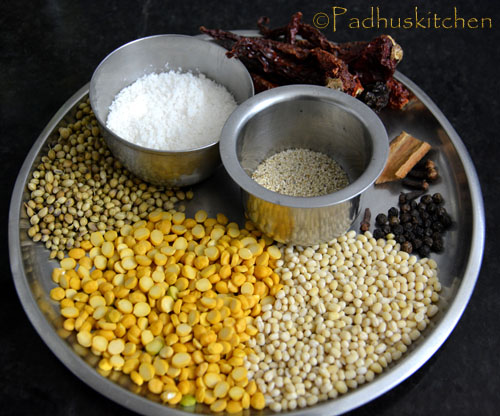 Vangi Bhath Powder ingredients